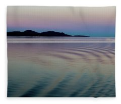 Alaskan Sunset At Sea Fleece Blanket
