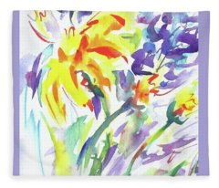 Alaskan Wildflowers Fleece Blanket
