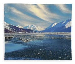 Alaskan Winter Landscape Fleece Blanket