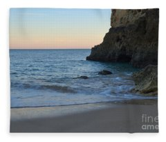 Albandeira Beach Welcoming Twilight 2 Fleece Blanket