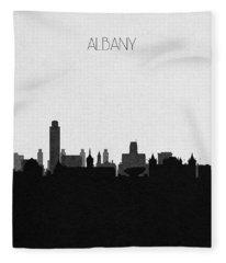 Albany Cityscape Art Fleece Blanket