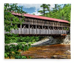 Albany Covered Bridge  Fleece Blanket