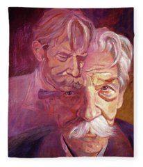 Albert Schweitzer Portrait Fleece Blanket