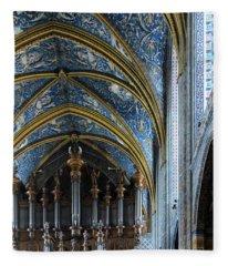 Albi Cathedral Nave Fleece Blanket