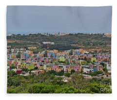 Albufeira Marina View Fleece Blanket