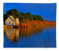 Albufera Blue. Valencia. Spain Fleece Blanket