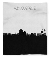 Albuquerque Cityscape Art Fleece Blanket