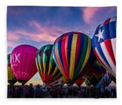 Albuquerque Hot Air Balloon Fiesta Fleece Blanket