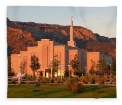 Albuquerque Lds Temple At Sunset 1 Fleece Blanket