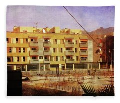 Alcala Yellow Apartments Fleece Blanket