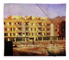 Alcala Yellow Apartments Fleece Blanket