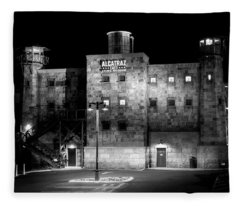 Alcatraz East Crime Museum In Black And White Fleece Blanket