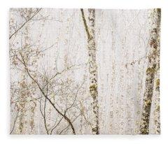 Alders In The Fog Fleece Blanket