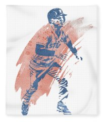 Alex Bregman Houston Astros Water Color Art 1 Fleece Blanket