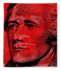 Alexander Hamilton - $10 Bill Fleece Blanket