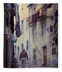 Alfama Life Lisbon Portugal Fleece Blanket
