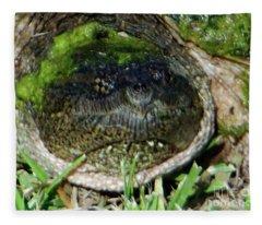 Algae Face Common Snapper Fleece Blanket