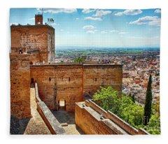 Alhambra Tower Fleece Blanket