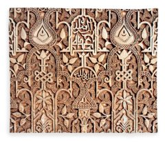 Alhambra Wall Section Fleece Blanket