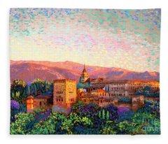 Alhambra, Granada, Spain Fleece Blanket