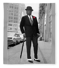Ali In London After Saville Row Fittings 1963-2008 Fleece Blanket