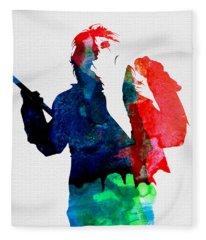 Alice Cooper Fleece Blankets