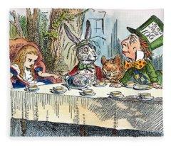 Alices Mad-tea Party, 1865 Fleece Blanket