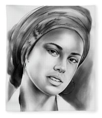 Alicia Keys 2 Fleece Blanket