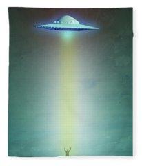 Alien Abduction Fleece Blanket