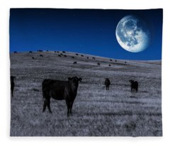 Alien Cows Fleece Blanket