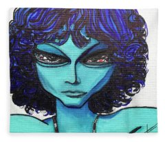 Alien Jim Morrison Fleece Blanket