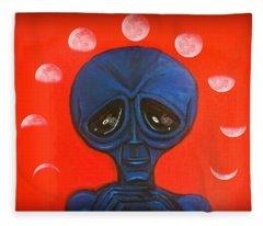 Alien Moonchild Fleece Blanket