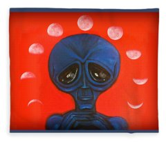 Alien Moonchild Fleece Blanket