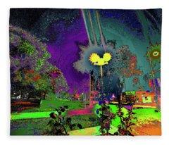 Alien Station 1031 To The Sun Fleece Blanket