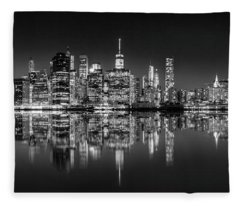 Alive At Night Fleece Blanket
