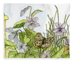 Alive In A Spring Garden Fleece Blanket