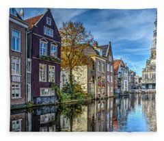Alkmaar From The Bridge Fleece Blanket
