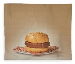 All-american Burger Fleece Blanket
