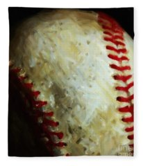 All American Pastime - Baseball - Square - Painterly Fleece Blanket