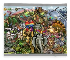 All Creatures Great Small Fleece Blanket