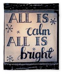 All Is Calm Fleece Blanket