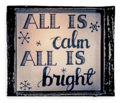 All Is Calm Fleece Blanket