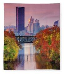All Pittsburgh Pink  Fleece Blanket