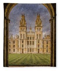Oxford, England - All Soul's Fleece Blanket