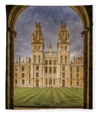 Oxford, England - All Soul's Fleece Blanket
