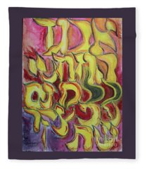 All The Letters  Ab1 Fleece Blanket