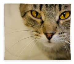 All Things Considered - Cat Close Up Fleece Blanket