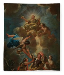 Allegory Of Divine Wisdom Fleece Blanket