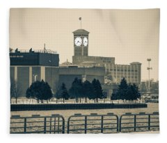 Allen Bradly Clock Tower Fleece Blanket
