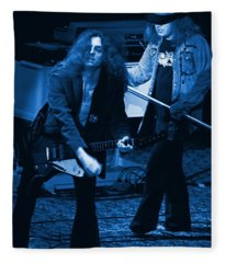 Allen Collins And Ronnie Van Zant Same Old Winterland Blues Fleece Blanket